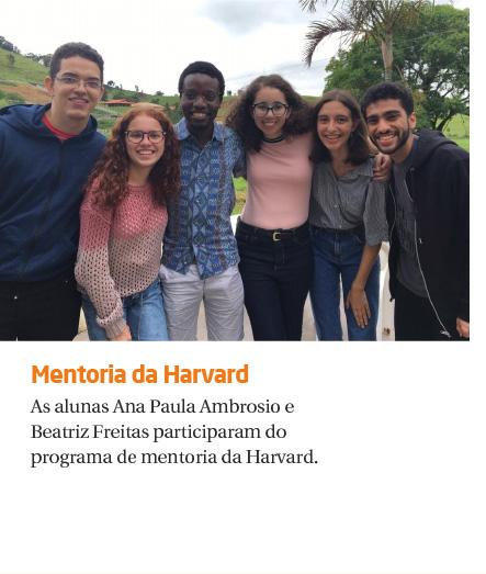 Alunas participaram de programa de mentoria de Harvard