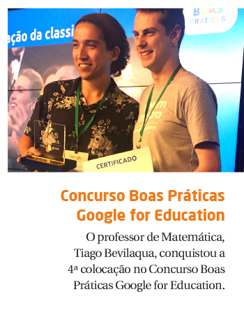 Professor é destaque no Concurso Boas Práticas Google for Education