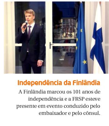 FRSP marca presença nas comemorações de 101 anos de independência da Finlândia