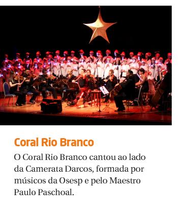 Coral Rio Branco e Camerata Darcos emocionam com concertos de Natal