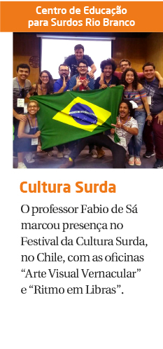 Professor representa o Brasil em Festival de Cultura Surda no Chile