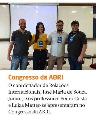PROFESSORES MARCAM PRESENÇA NO 7° ENCONTRO NACIONAL DA ABRI