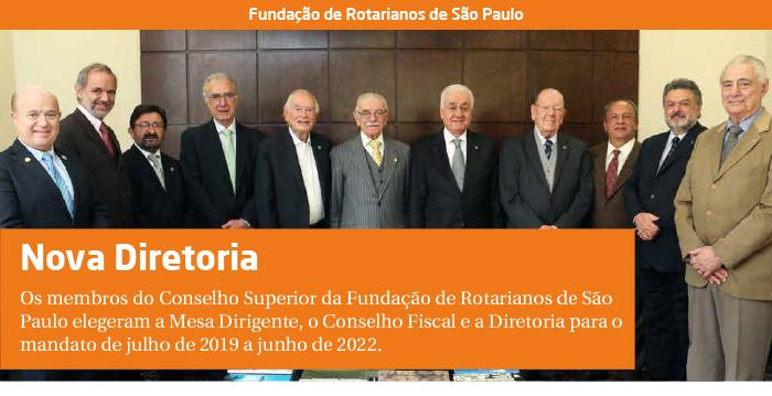Fundação de Rotarianos de São Paulo: Eleições 2019/2022