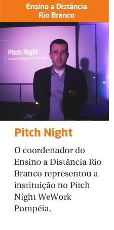 Rio Branco participa do Pitch Night WeWork Pompéia