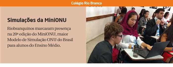 Riobranquinos marcam presença na 20ª edição do MiniONU