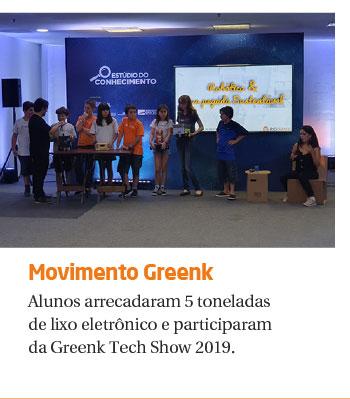 Alunos arrecadam 5 toneladas de lixo eletrônico e participaram da Greenk Tech Show 2019